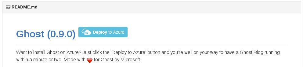 Deploy Ghost to Azure via GitHub