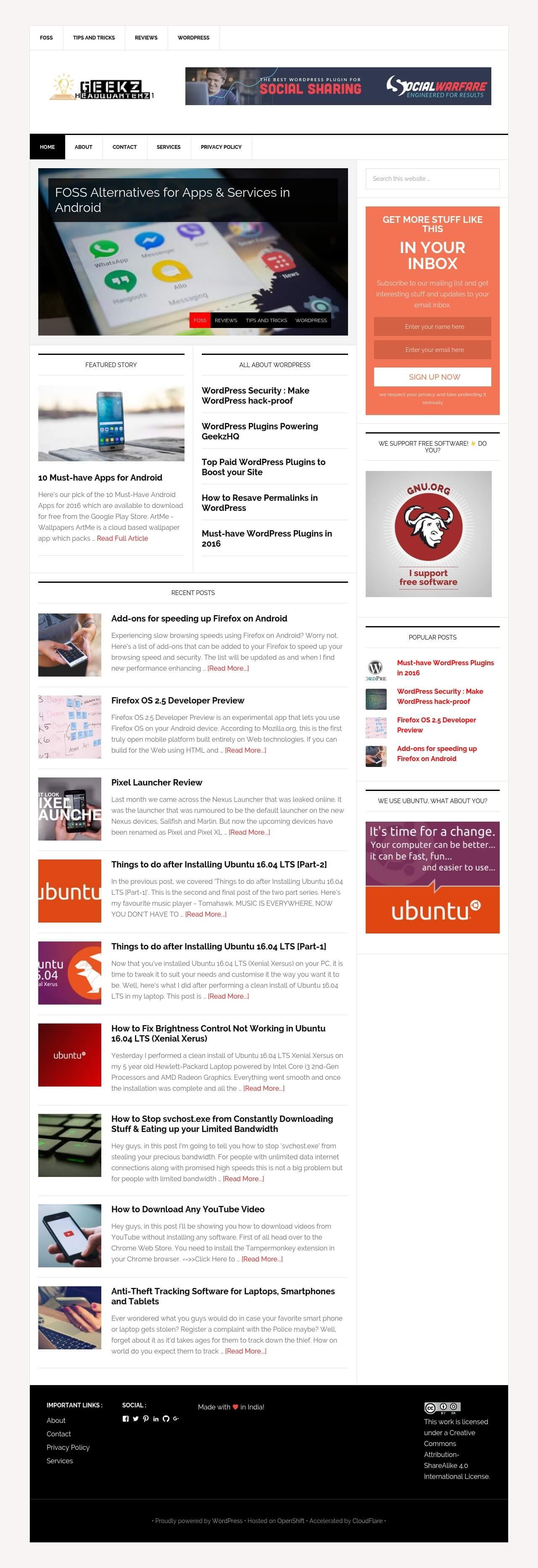 GeekzHQ - Geek Website