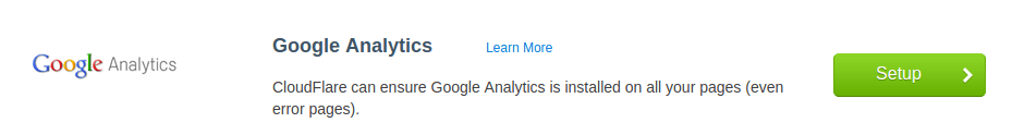 Cloudflare Google Analytics App