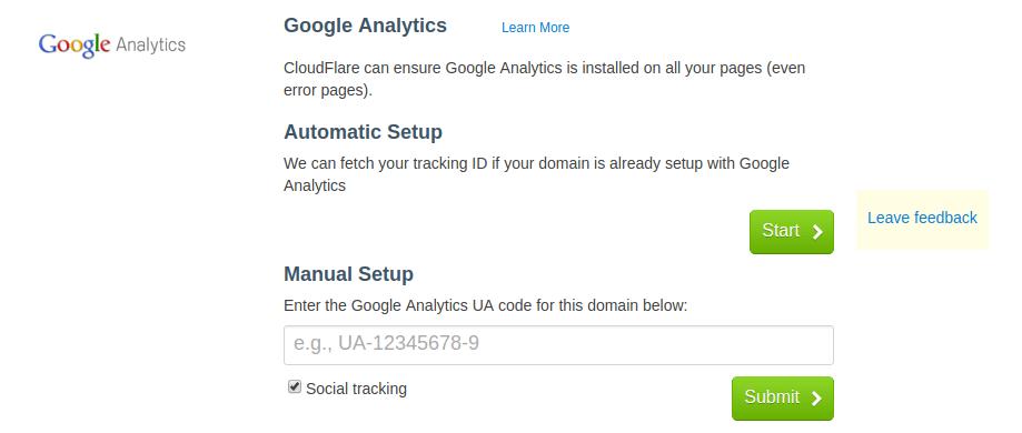 Setup Google Analytics on Cloudflare