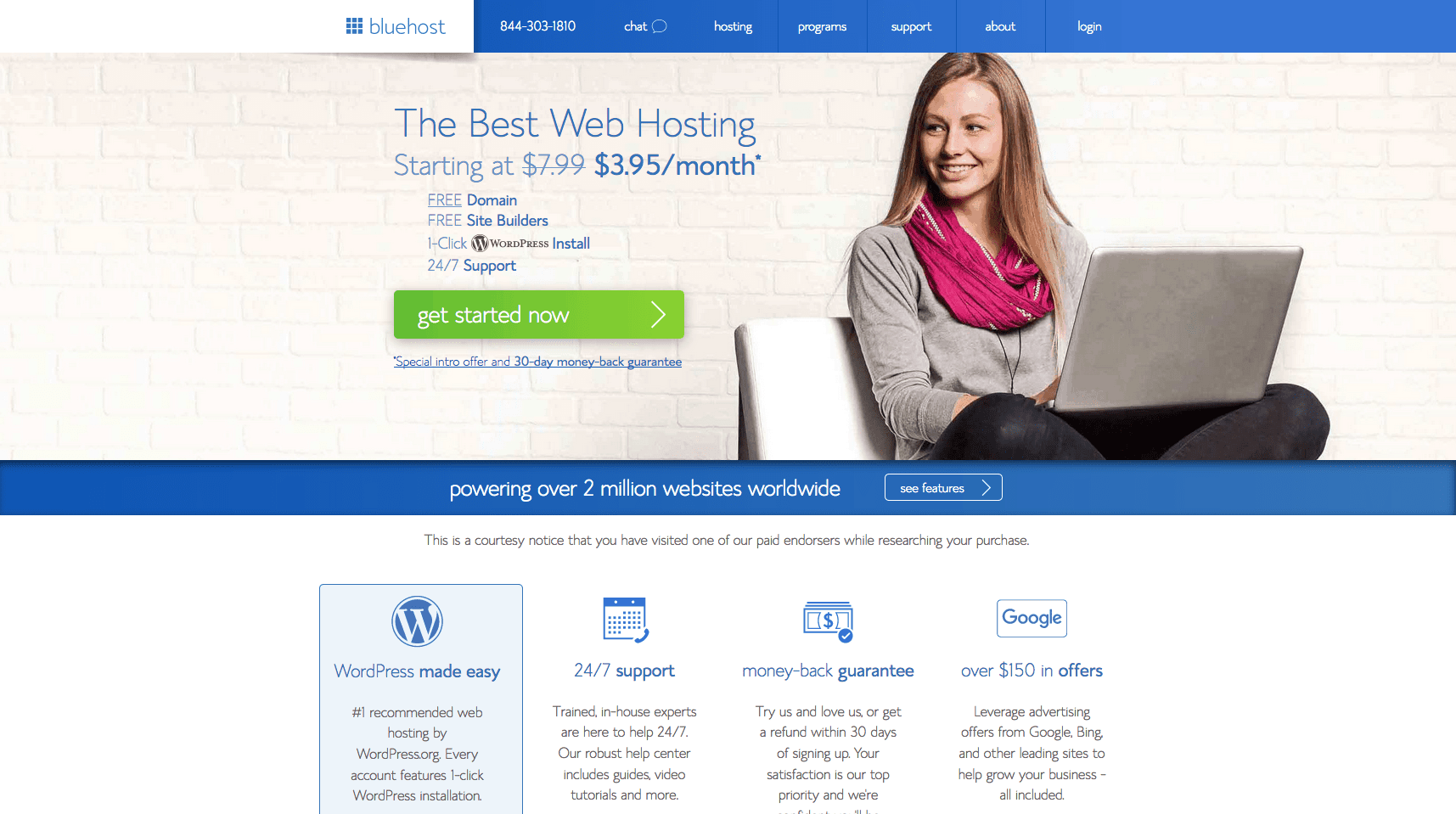 Bluehost.com Homepage Offer