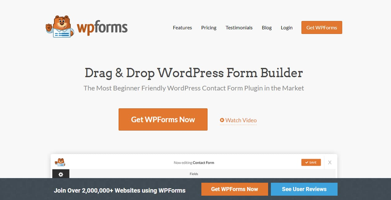 drag and drop wordpress form builder