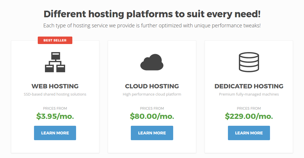 SiteGround hosting plans compared