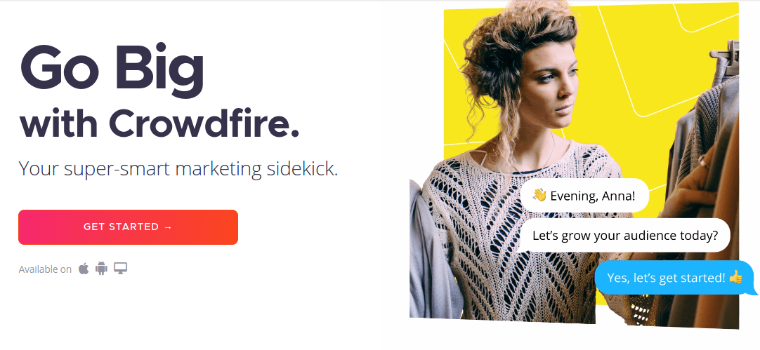 Crowdfire - Your super-smart marketing sidekick.