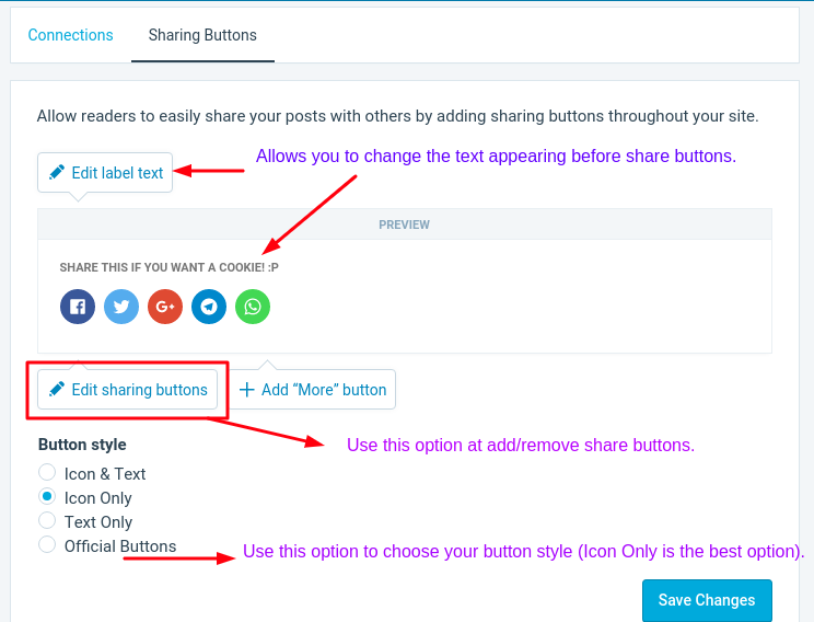 Configure Jetpack Social Sharing Buttons