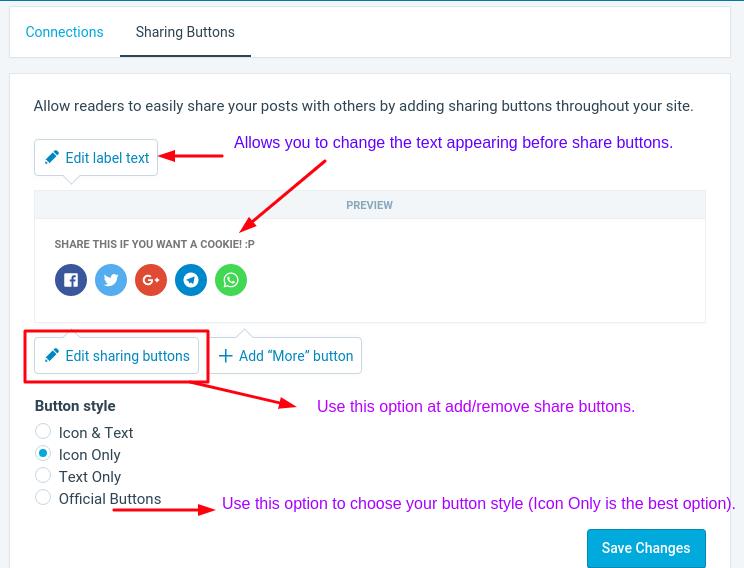 Configure Jetpack Social Sharing Buttons