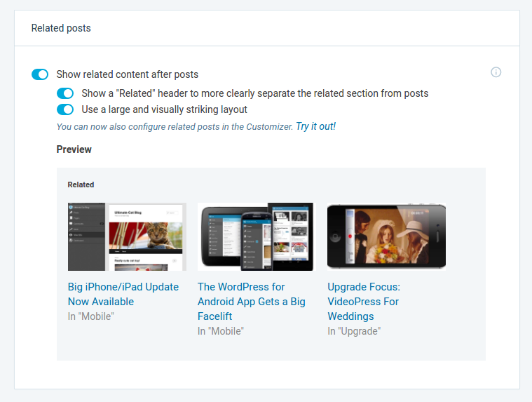 Jetpack Related Posts Module