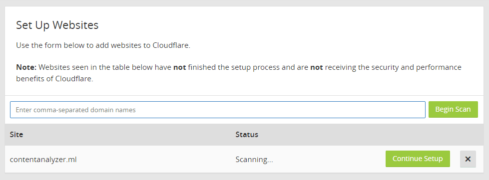 Manually Add Domain Name To Cloudflare