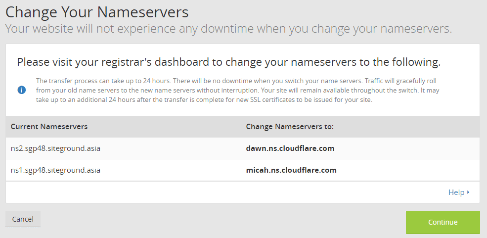 Change Your Name Servers To Cloudflare Nameservers