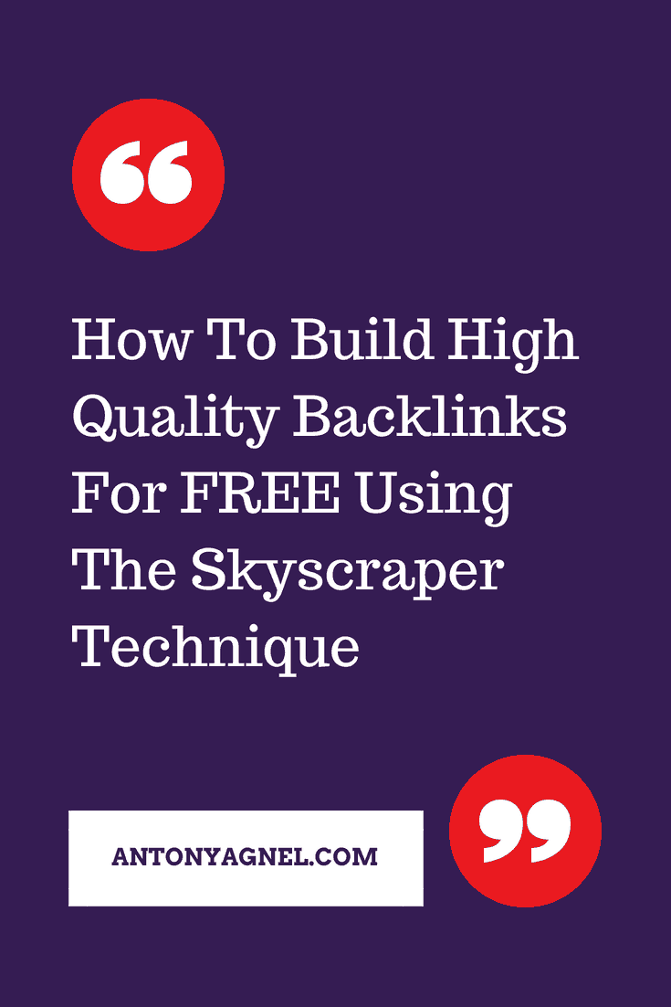 How To Create High Quality Backlinks For FREE