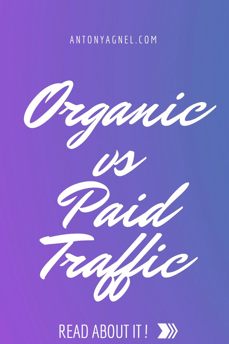 Organics SEO traffic vs paid advertising traffic