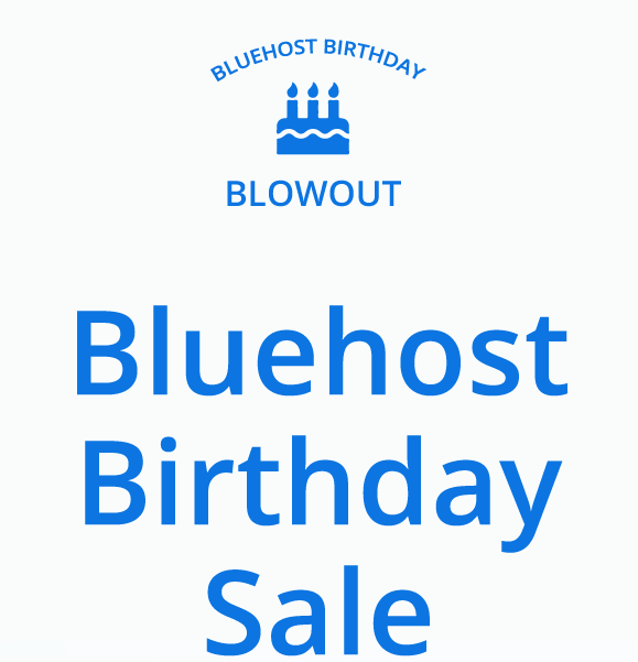 Bluehost Birthday Sale - Web Hosting at $2.65/month