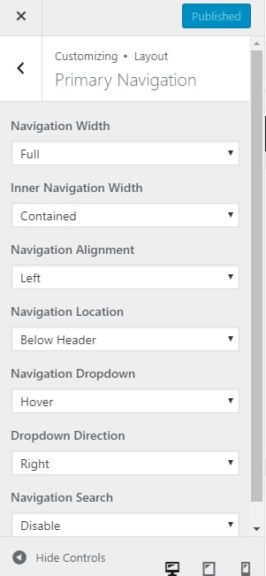 generatepress advanced navigation menu customization
