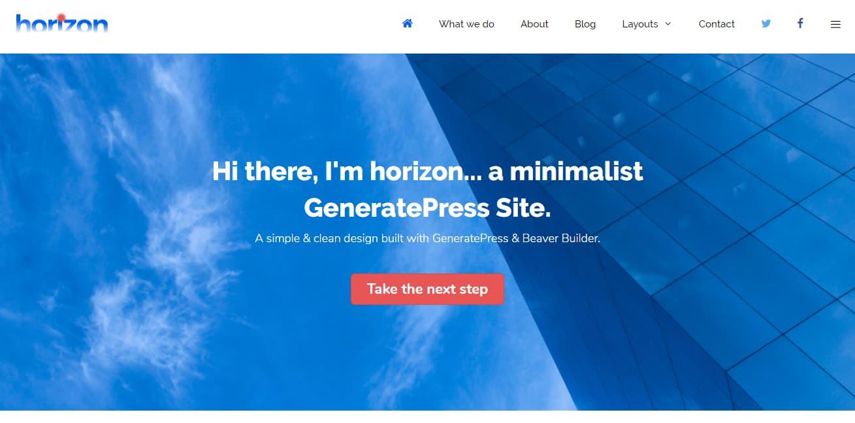 GeneratePress minimalist WordPress theme