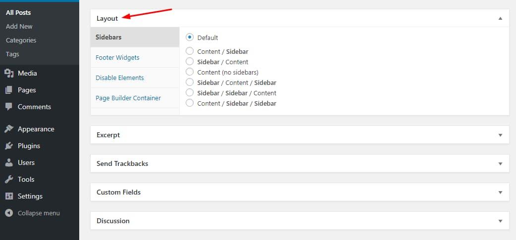 generatepress page level customization options