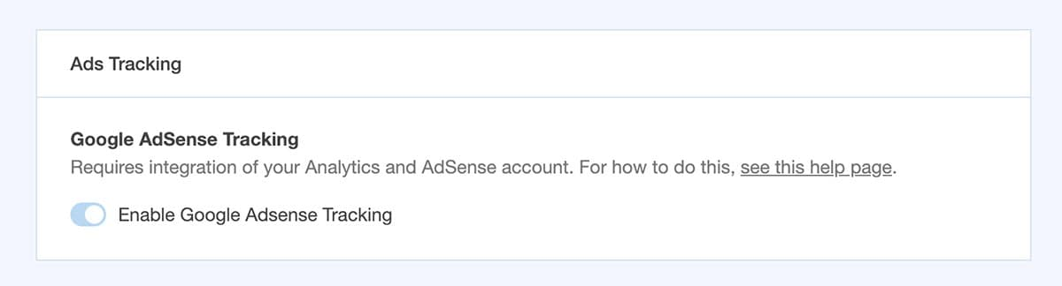 enable google adsense tracking in monsterinsights