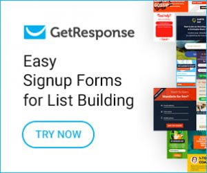 getresponse easy signup forms