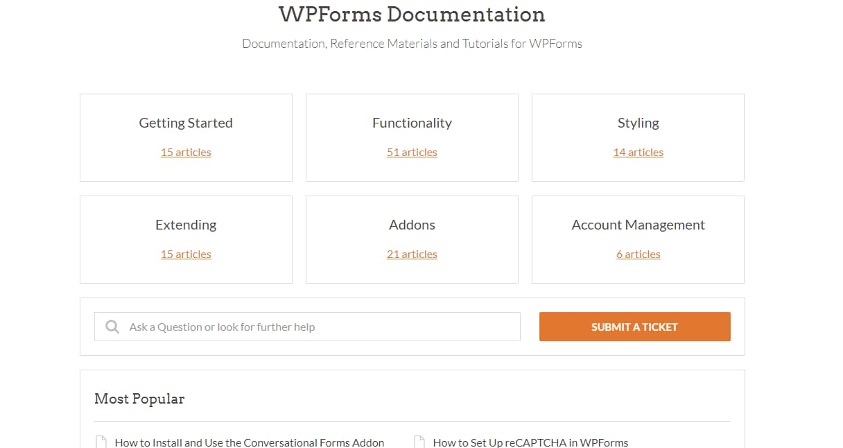 wpforms documentation
