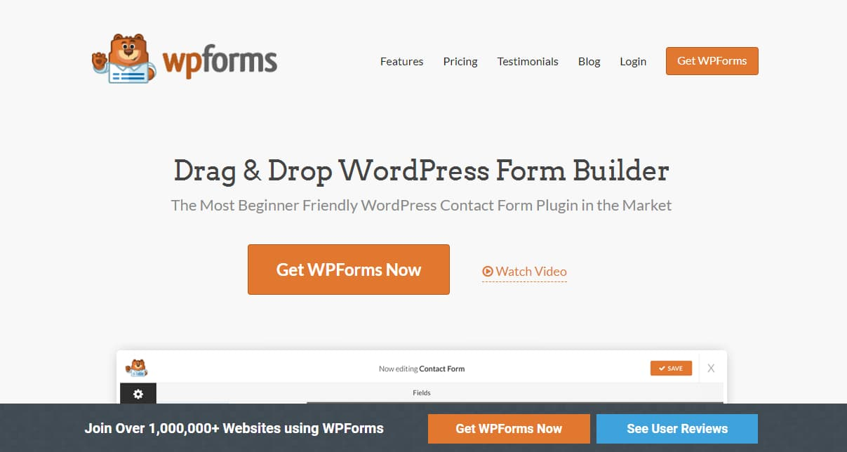 wpforms drag and drop WordPress form maker plugin