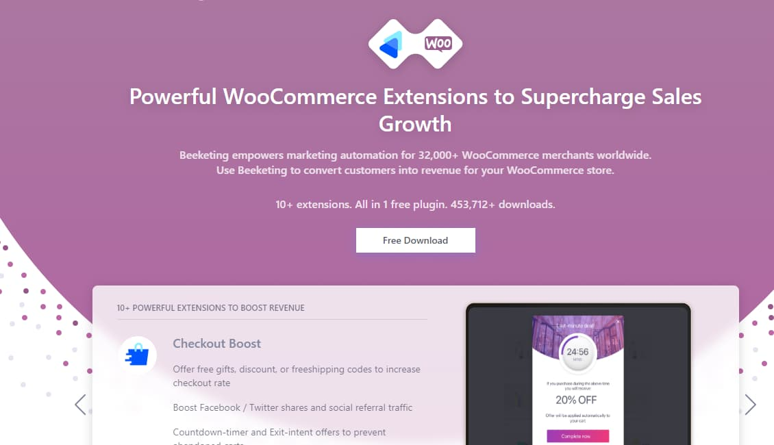 beeketing for woocommerce plugin