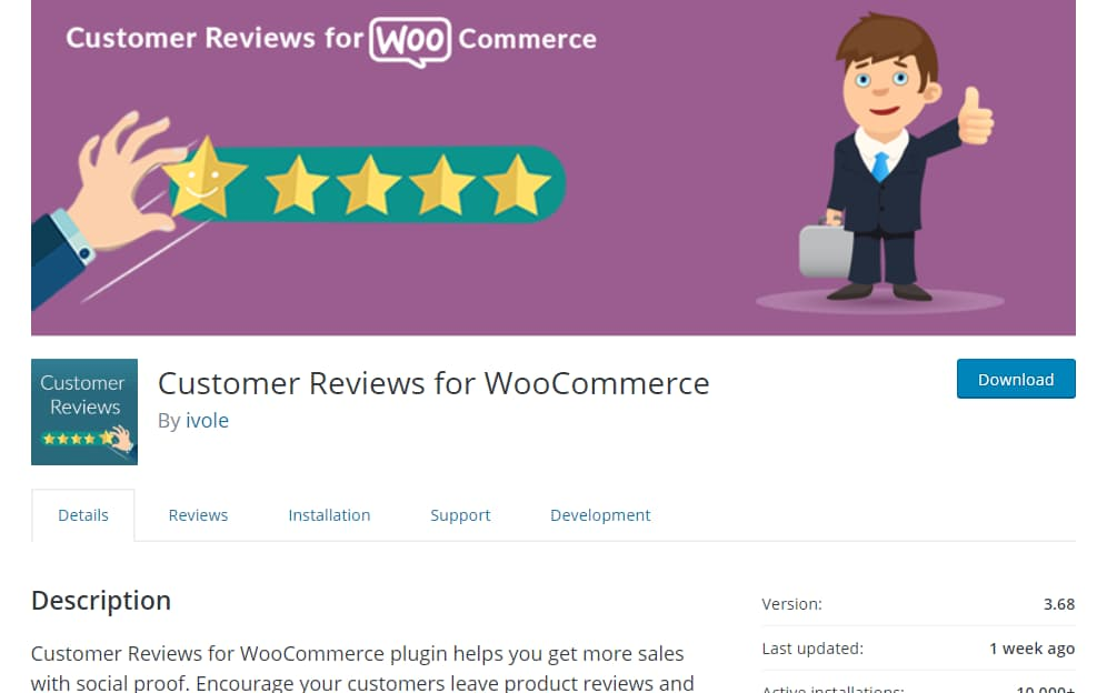 customer reviews for woocommerce plugin
