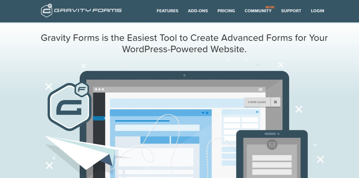gravity forms wordpress form builder plugin