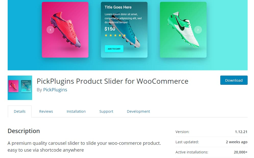 product slider for woocommerce plugin