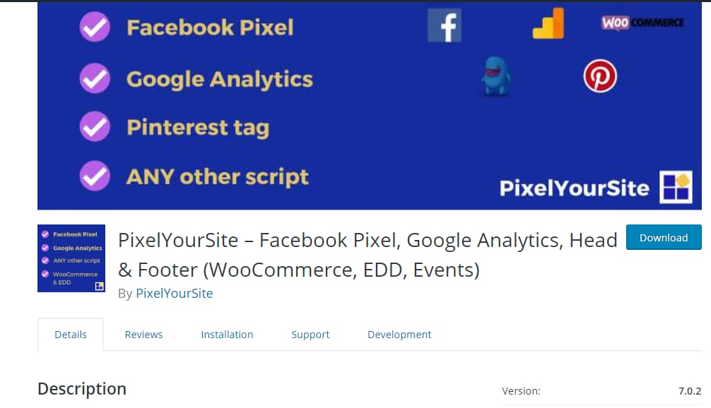 pixel your site wordpress plugin