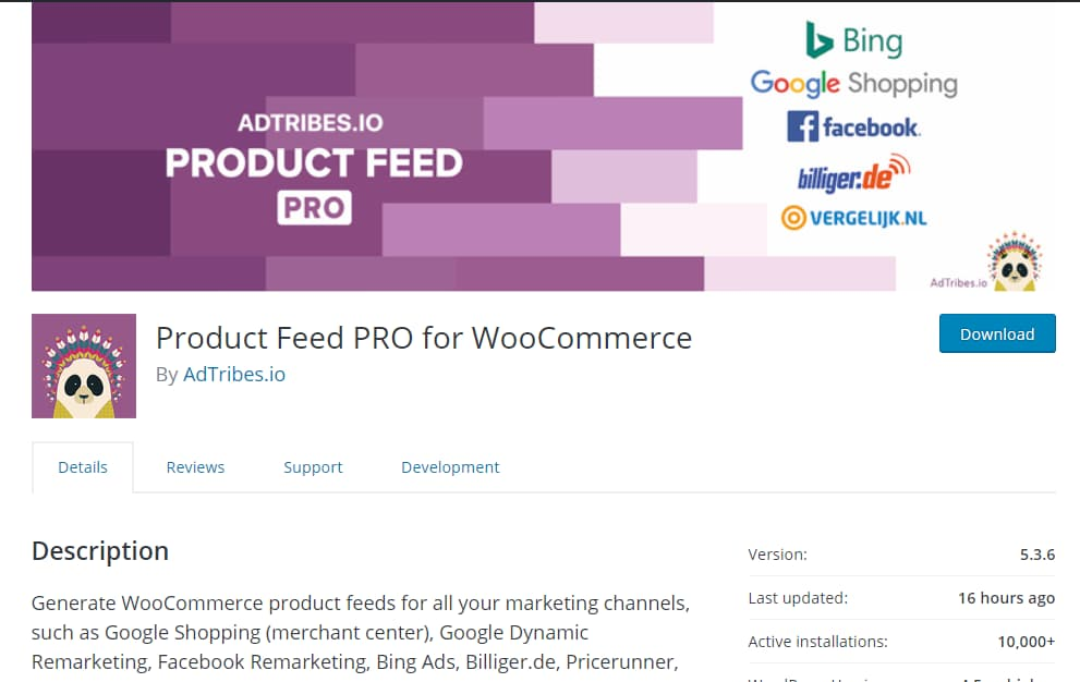 product feed pro for woocommerce plugin