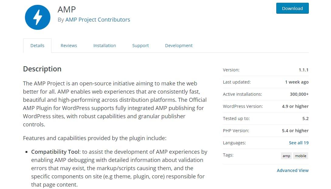 essential wordpress amp plugin