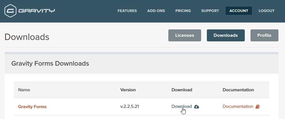 download gravity forms wordpress plugin