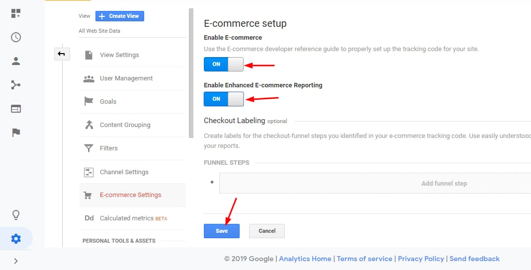 google analytics enhanced ecommerce reporting