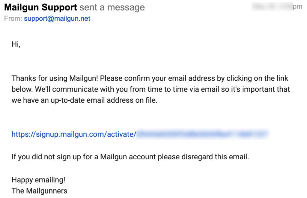 mailgun email verification