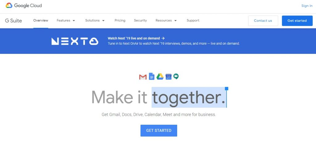 g suite - collaboration and productivity apps for businesses