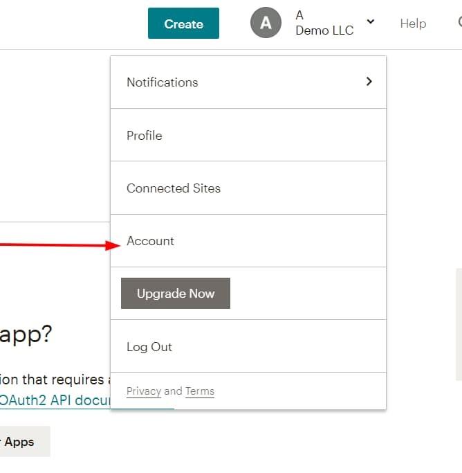 mailchimp account settings