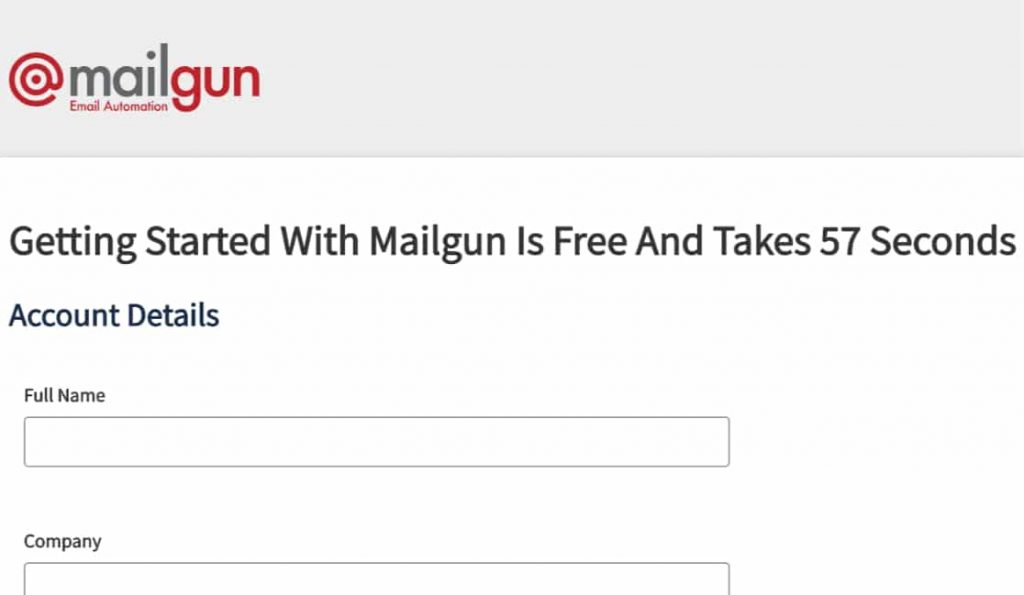 sign up for mailgun email automation