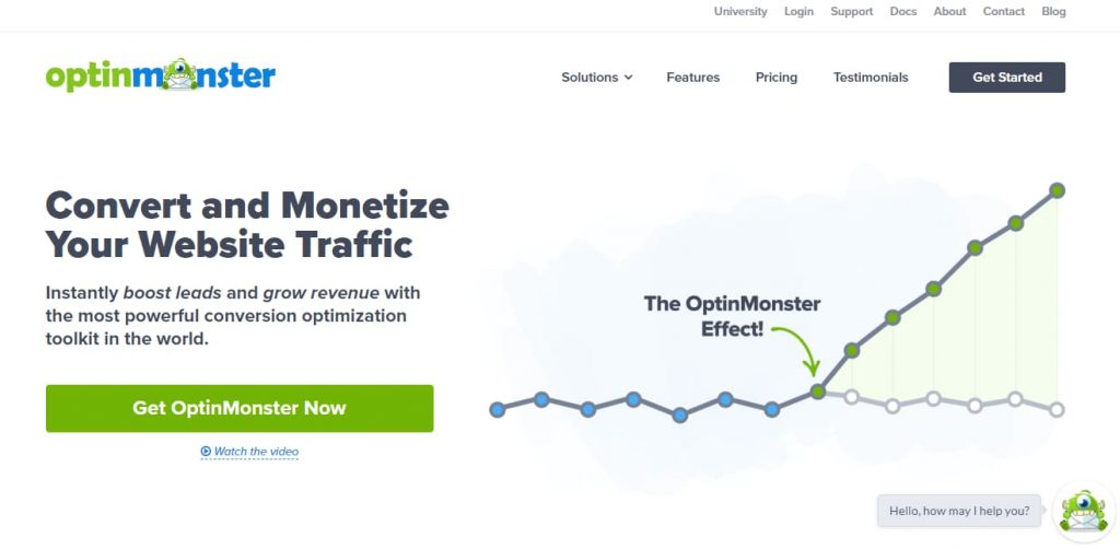 optinmonster wordpress lead generation plugin
