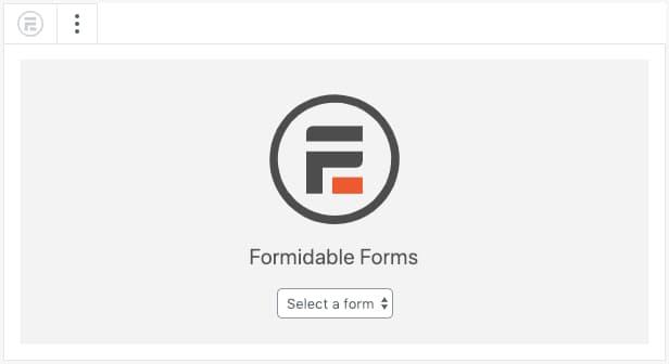publish formidable forms gutenberg block