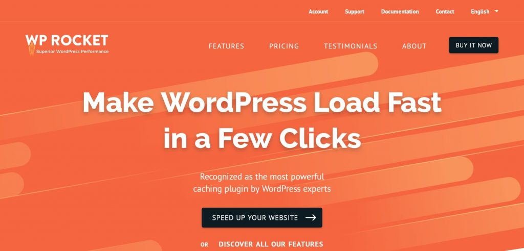 wp rocket - best wordpress caching and minification plugin