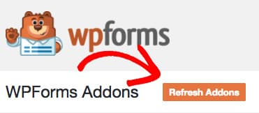 wpforms refresh addons after license upgrade