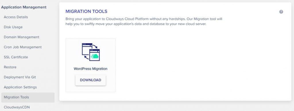 Migrate WordPress Site To Cloudways using migrator plugin