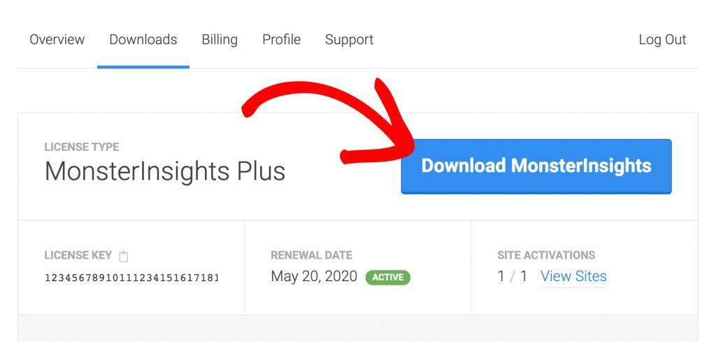 download monsterinsights plus wordpress plugin