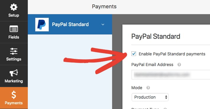 accept paypal standard payments using wpforms payment forms on wordpress