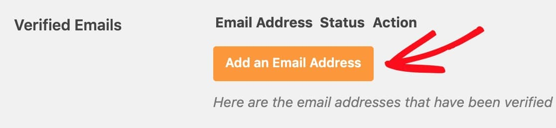 add verified email addresses to amazon ses