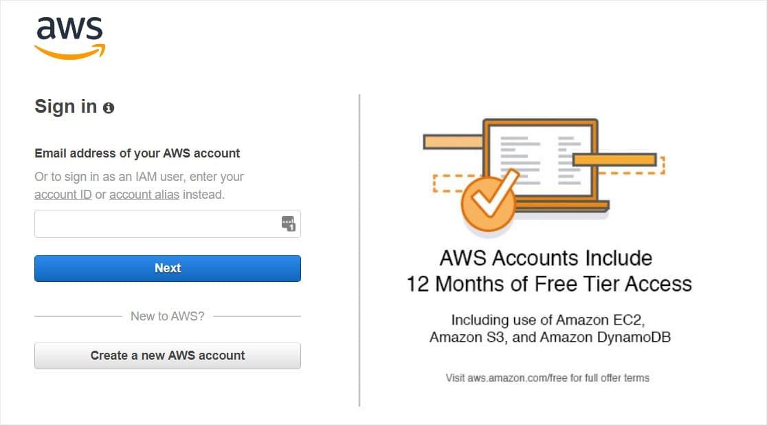 amazon aws iam users management console