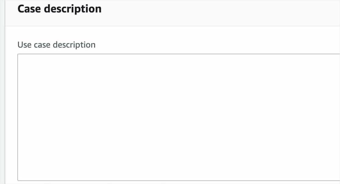 aws use case description for ses smtp access