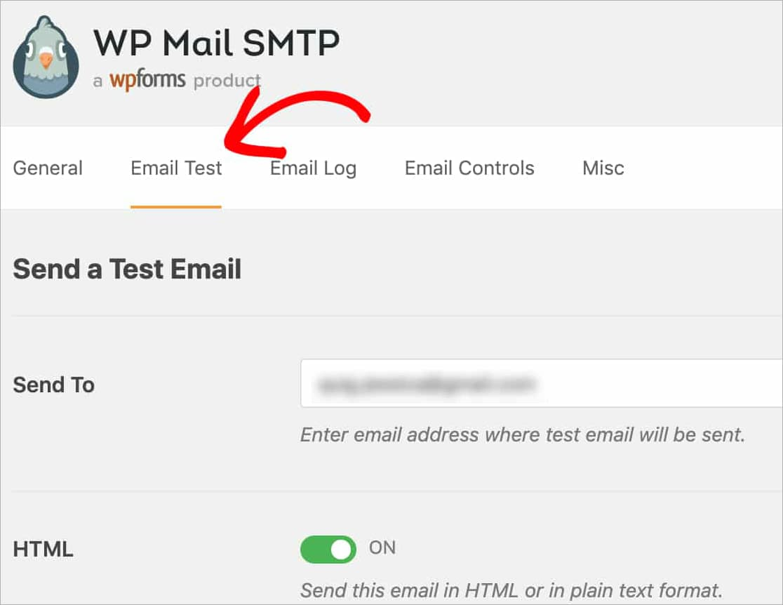 send amazon ses test email using wp mail smtp