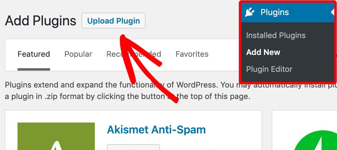 upload wp mail smtp pro manually on wordpress