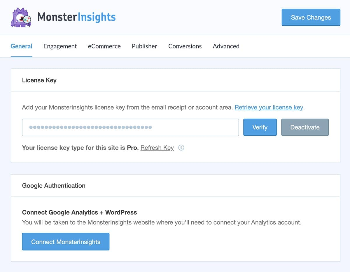 configure monsterinsights wordpress plugin