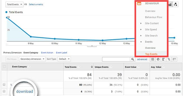 file download tracking in google analytics
